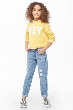 Girls Distressed Jeans (Kids)