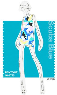 WHIT NY in Pantone Scuba Blue - SPRING 2015 PANTONE's #FashionColorReport