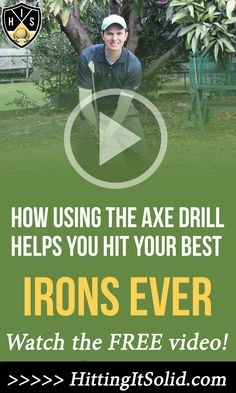 Hitting It Solid shares with you how to use the axe drill golf to hit solid golf iron shots and hit your targets. This axe drill developed by instructor Pete Cowan has been used by the best golfers in the world as well as thousands of every day golfers. CLICK THE IMAGE to watch the video. #axedrilgolf #axedrill #axedrillpetecowen #solidironshots #solidironcontact #solidironplay