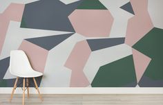 forain-abstract camo-room-wall mural-kj