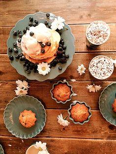 Schokobananen Muffins gebacken mit Ib Laursen Mynte Geschirr