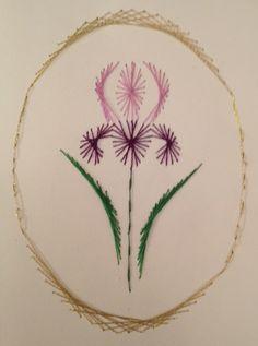 Iris stitching card by Pamela Turner
