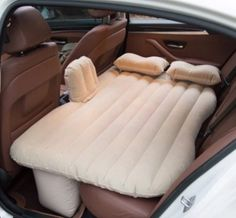 Buy Car Air Mattress Bed with 2 Pillows Car Back Seat Cover Inflatable Mattress Car Bed for Camping Traveling High Quality at Wish - Shopping Made Fun Tent Camping, Camping Hacks, Camping Ideas, Camping Trailers, Beach Camping, Camping Mattress, Camping Gadgets, Camping Guide, Diy Camping