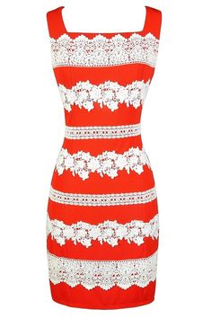 Lily Boutique Stripes of Lace Sheath Dress in Orange, $42 Cute Orange Dress, Orange Lace Dress, Orange Sheath Dress, Cute Orange Work Dress, Orange Crochet Lace Dress, Cute Summer Dress, Cute Work Dress, Orange Juniors Dress, Stripes of Lace Sheath Dress in Orange www.lilyboutique.com