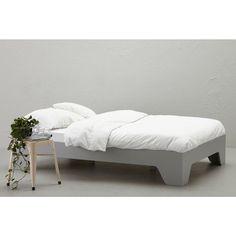 whkmp's own Bed Cargo, 140x200, Betongrijs, Incl. lattenbodem #ikdroomvanwhkmpsown