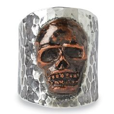 ☆ Day of the Dead Ring » The eternal motif recreated in Solid Sterling Silver and Copper = Made in the USA :¦: Shop: Crow's Nest ☆