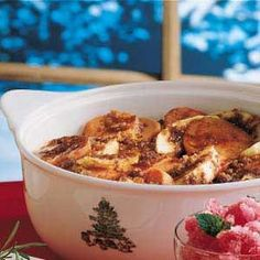 Healthy Apple Sweet Potato Bake Recipe -Grandmother always served sweet potatoes and apples with pork, so I know she'd approve of this dish I created to combine the two.—Audrey Thibodeau, Gilbert, Arizona