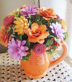 Paper Flower Arrangement Perfect for by SweetPeasPaperFlower, $25.00