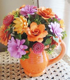 Paper Flower Arrangement Perfect for by SweetPeasPaperFlower, $25.00