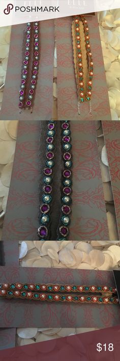 Fashion headband jeweled Boho headwrap 2 new headbands/head wraps. Absolutely adorable. Originally $20 a piece. Listing if for both. Elle Accessories Hair Accessories