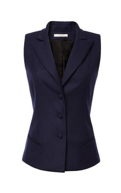 Fashion Month Must Own: A great vest: Gabardine Suiting Vest by Bouchra Jarrar Now Available on Moda Operandi