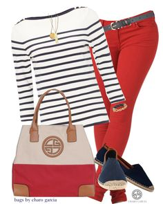 """go"" by norwich-ave on Polyvore...not crosswise stripes, but I love it otherwise."