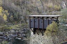 peter zumthor's zinc mine museum takes shape in allmannajuvet, norway