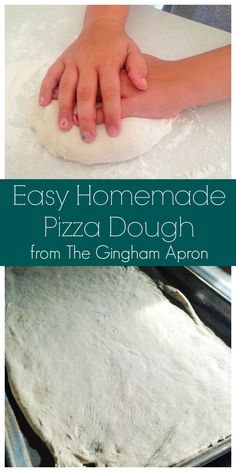 This is our favorite pizza dough recipe. Fail-proof and simple.