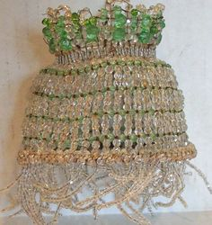 Beautiful Antique Beaded Lampshade/ Light Bulb Cover