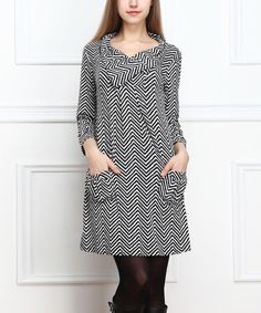 Black and white chevron dress--Zulily.