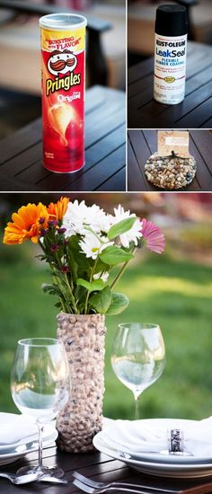 Surprisingly Awesome DIY Rock Crafts DIY Rustic Rock Vase