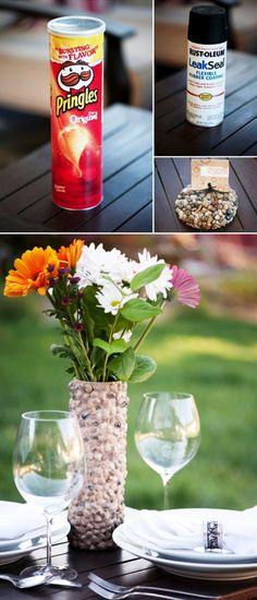 Surprisingly Awesome DIY Rock Crafts DIY Rustic Rock Vase