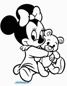 Bebe Mickey Mouse Para Colorear