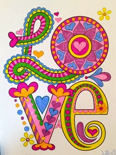 Love coloring page from Thaneeya McArdle's Peace & Love Coloring Book ~~~ LOVE! Coloring Book Art, Adult Coloring Pages, Peace Love Happiness, Peace And Love, Peace Art, Emo, Hippie Art, Gypsy, Love Wallpaper