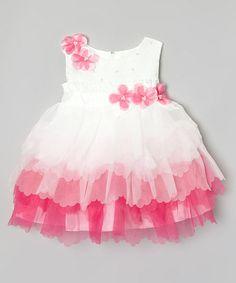 Cloud & Carnation Flower Ruffle Tiered Dress