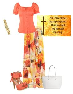 """Pentecostal Outfit"" by daisnalopez on Polyvore featuring Alice + Olivia, JY Shoes and Kate Spade"