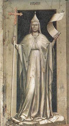 Giotto di Bondone - Faith. #art #artists #giotto