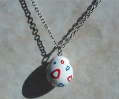 Togepi Egg Pokemon Clay Charm Necklace by TeamRocketWolf on Etsy