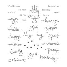 Endless Birthday Wishes stamp set, Stampin' Up!