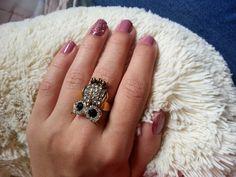 Minha unha da vez :) #nails #mynails #unhas #coruja #rosa #blogQO