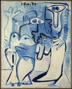 Pablo Picasso - L'œuvre Couple, 1971. Centre Pompidou Paris.