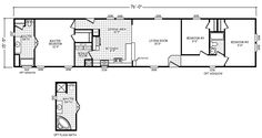 Alamosa Single Wide Cavco West Homes Mobile Home Floor Plans, Modular Home Floor Plans, House Floor Plans, Mobile Home Renovations, Remodeling Mobile Homes, Single Wide Trailer, Single Wide Remodel, Manufactured Homes Floor Plans, Mobile Home Doublewide