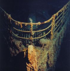 """Titanic"" at the bottom of the Atlantic Ocean at a depth of 3750 meters. In (Photo by PP Shirshov Institute of Oceanology): Naufrágio Do Titanic, Titanic Sinking, Titanic History, Titanic Movie, Lost Places, Abandoned Ships, Abandoned Places, Shipwreck, Interesting History"