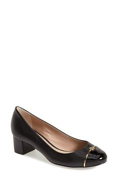 Tory Burch Cap Toe Leather Pump (Women)(Nordstrom Exclusive) available at #Nordstrom
