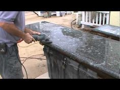 Two more cement countertops.mpg - YouTube