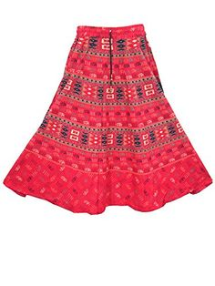 Indian Skirt- Red Printed Bohemian Hippie Gypsy Fashionista Skirts Mogul Interior http://www.amazon.com/dp/B00VA1H1F0/ref=cm_sw_r_pi_dp_0NJfvb1RKWNKJ