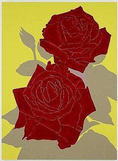 felixinclusis: socialclaustrophobia: Gary Hume (British, b. Two Roses, Enamel on aluminium, 60 × 44 in × cm). via sulphuriclike Gary Hume, Two Roses, Social Art, Famous Art, Motif Floral, Art Sketchbook, Flower Art, Art Flowers, Kitsch