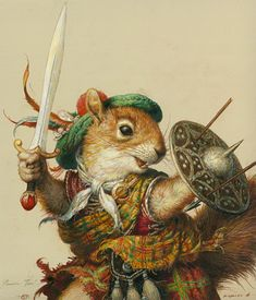 Scottish squirrel from Redwall! Zoo 2, Right In The Childhood, Art Graphique, Children's Book Illustration, Illustrators, Character Art, Fantasy Art, Fairy Tales, Cute Animals
