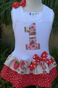 Strawberry Shortcake first birthday outfit