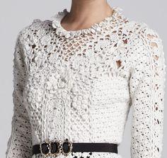 Outstanding Crochet: Irish Crochet pullover from Oscar de la Renta