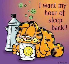 I want my hour of sleep back!!