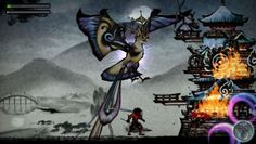 Sumioni: Demon Arts.  Very artistic ps Vita game by Acquire in japan.  Painted and awesome looking.