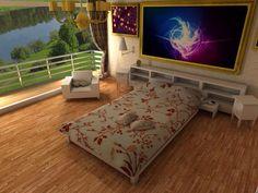 Modern yatak odası 3 ds max