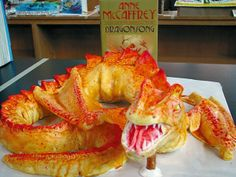"""""""Clay Barry's depiction of [Anne McCaffrey's] """"Dragonsong"""" won the Judges' Choice Award in the 2010 Edible Book Contest at the Blount County Public Library."""""""