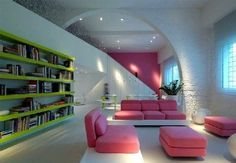 Futuristic Home Interior Of exemplary Futuristic Interior Design Style Estate Images Classic Interior, Home Interior Design, Interior And Exterior, Color Interior, Interior Ideas, Exterior Homes, Home Decor Colors, Pink Home Decor, House Color Schemes