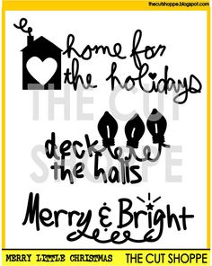 The Merry Little Christmas cut file includes 3 by TheCutShoppe