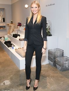 Business beauty: On Thursday, Gwyneth Paltrow, 44, was quite the lady in charge as she attended the opening of Goop Gift, her site's pop-up shop in Brentwood