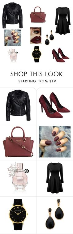 """#bez naslova"" by belma-zoric ❤ liked on Polyvore featuring Sisters Point, Wet Seal, MICHAEL Michael Kors, Viktor & Rolf, Larsson & Jennings and Kenneth Jay Lane"