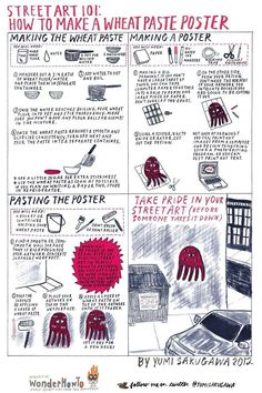 Street Art 101: How to Make a Wheatpaste Poster « The Secret Yumiverse