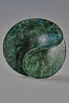 Green Riffle - Antonia Salmon #ceramics #pottery